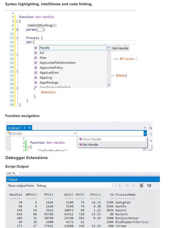 PowerShell Tools for Visual Studio3