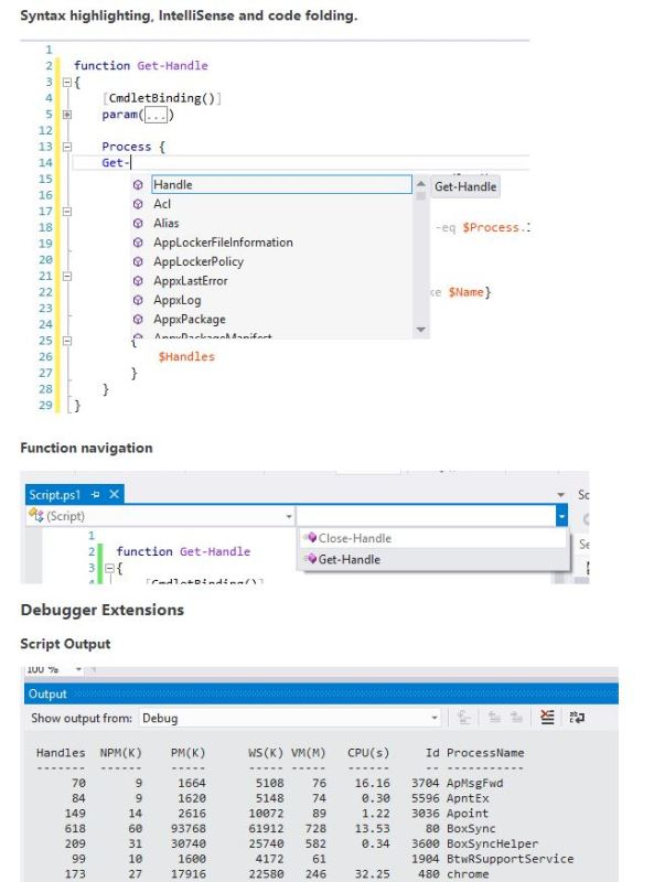PowerShell Tools for Visual Studio3