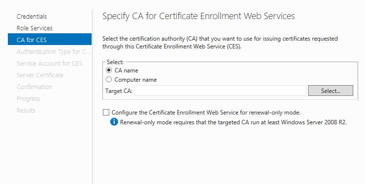 Certificate Enrollment Web & Policy Service (CES & CEP) | Ammar ...