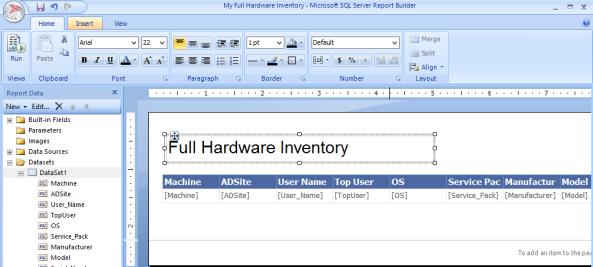 Config Manager 2012 Build and Customize SQL Reports 13