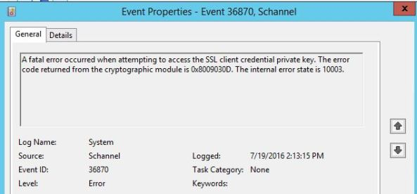 TLS Error Office 365 Exchange Hybrid